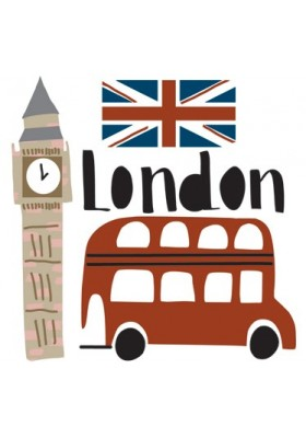 London mini sticker