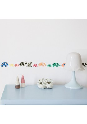 Elephants wall border