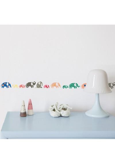 Elephants wall border