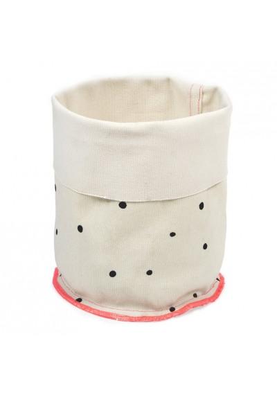 Panier en tissu - Pois
