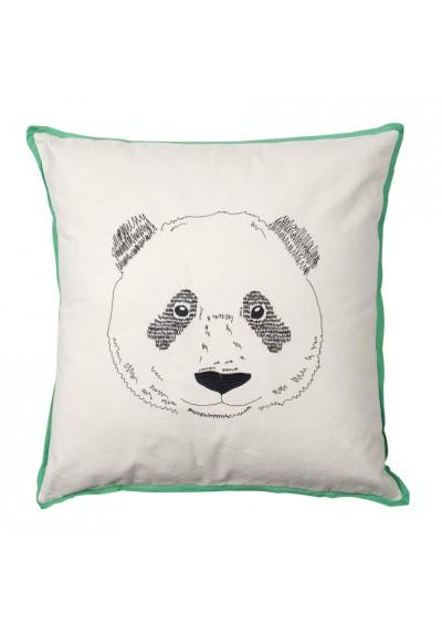 Coussin brodé Tête de panda