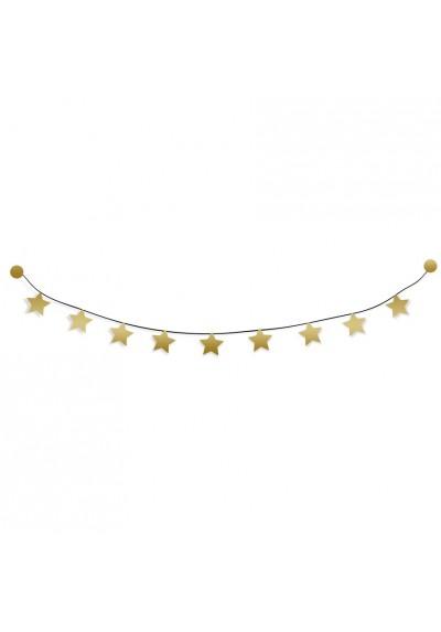 Kit guirlande - Étoiles dorées