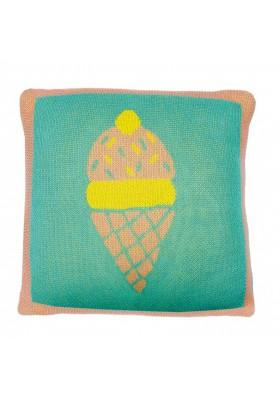 Coussin tricoté Ice cream