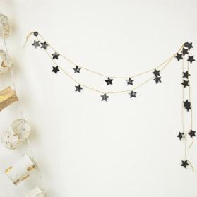 Kit guirlande - Étoiles noires