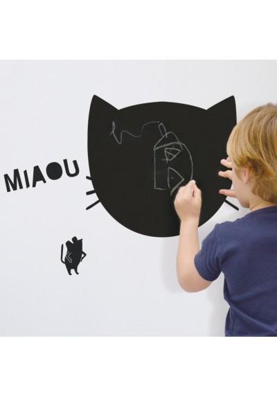 'miaou' blackboard sticker