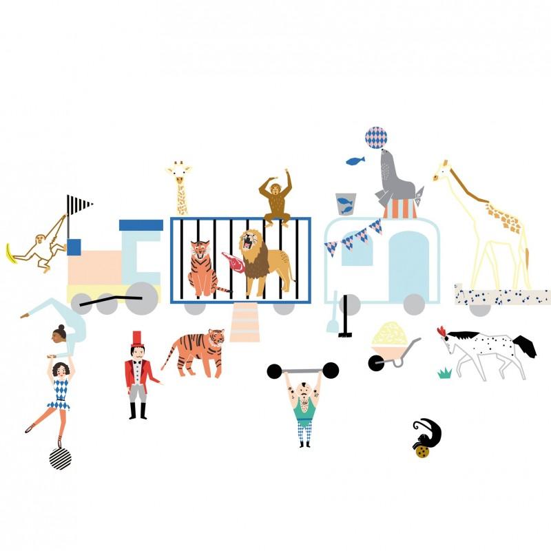 the circus train - sticker - mimi'lou shop
