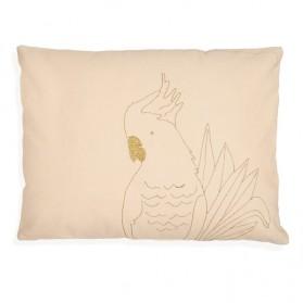 Coussin brodé - Golden Parrot
