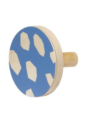 Wooden Hook - Blue