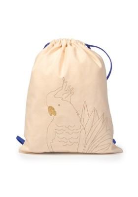 Embroidered bag -Golden Parrot