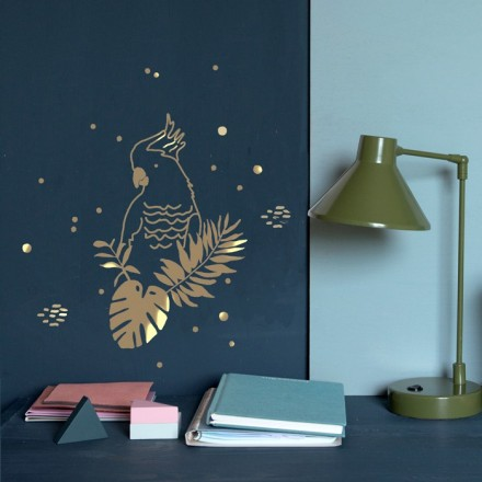 sticker golden parrot mimi 39 lou shop. Black Bedroom Furniture Sets. Home Design Ideas