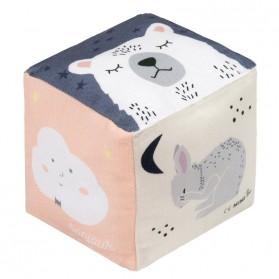 Cube coton - Bonjour