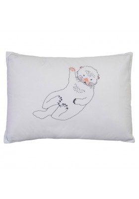 Embroidered Cushion Otter