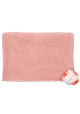 Kid's Blanket, Pink Pompom