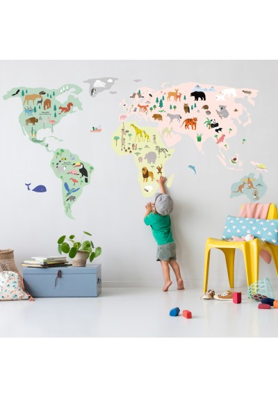 Stickers - Giant World Map