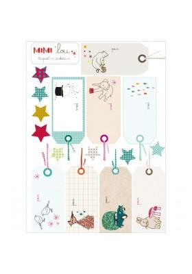 Planche étiquettes cadeaux