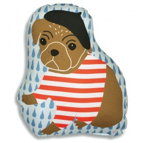 Parisian Dog - stuffed pillow