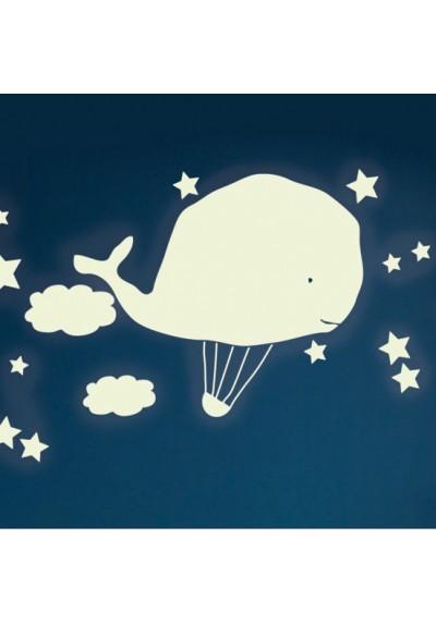 Hot air balloon whale