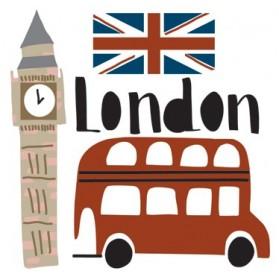 Mini sticker - London