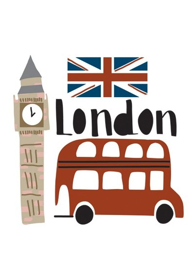 London mini sticker