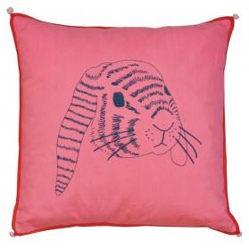 Rabbit's head - Embroidered cushion