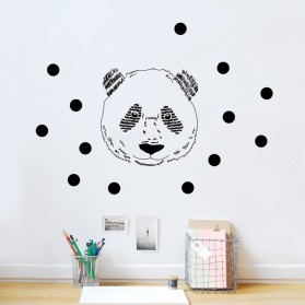 Panda's head - Sticker