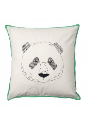 "Embroidered cushion ""Panda bear's head"""