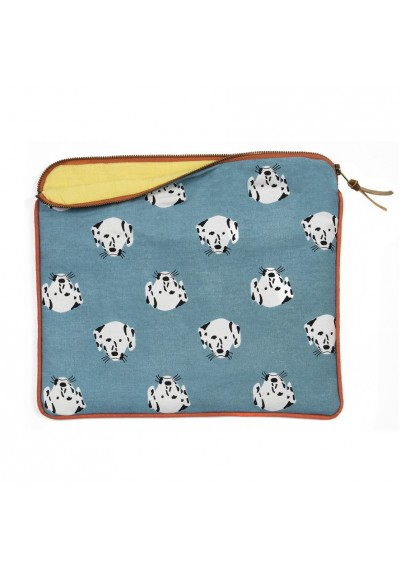 Padded pouch - Spotty dogs