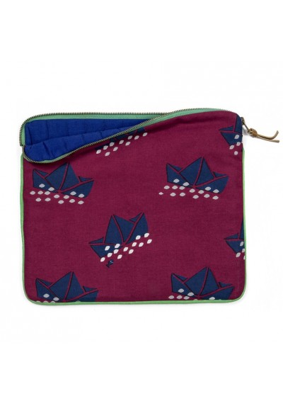 Padded pouch - Paper boats