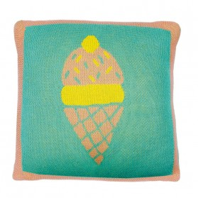 Ice cream - Knitted cushion