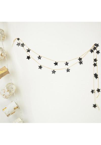 "DIY garland kit ""black stars"""