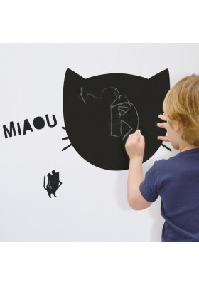 'miaou' blackboard sticker