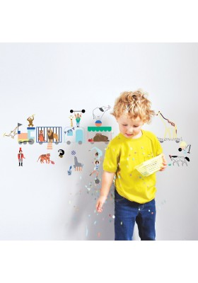 Wall sticker 'Circus train'