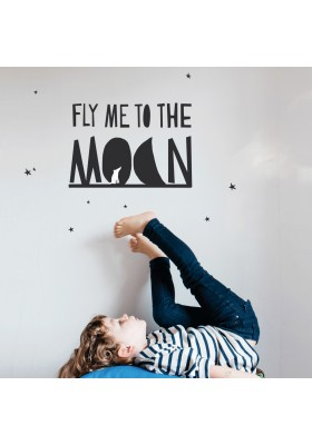 """Fly me to the Moon"" Sticker"