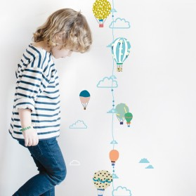 Hot air balloons height chart - Sticker