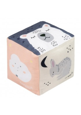 Cotton Cube With Bell Bonjour