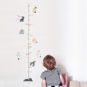 Rabbits Height Chart - Sticker