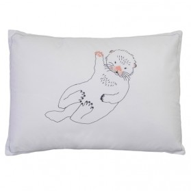 Otter - Embroidered cushion
