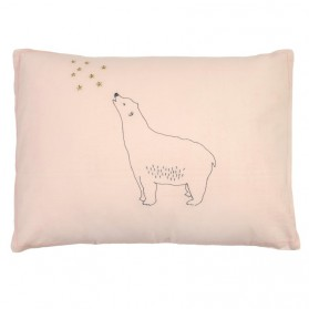 Bear and Stars - Embroidered cushion