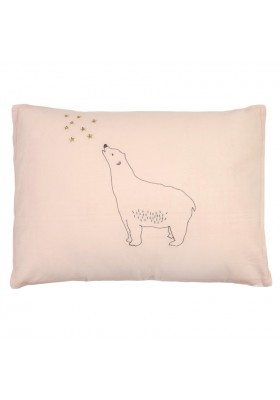 Embroidered Cushion Bear and Stars