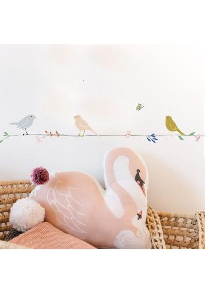 Wallborder Fleurs et Oiseaux