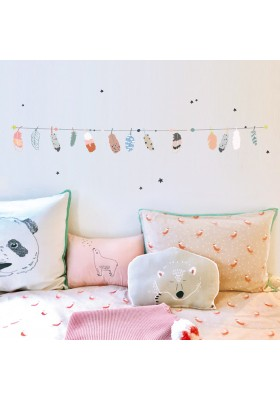 Wallsticker - Feathers garland