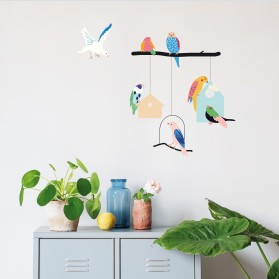 Sticker - Birds and Houses