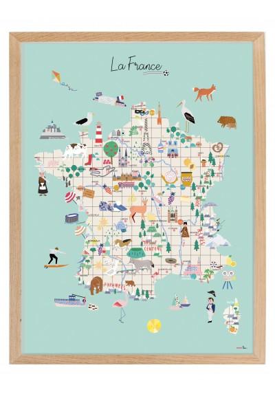 """Poster in a frame """"la France"""""""