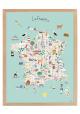 """Affiche """"La France"""" encadrée"""
