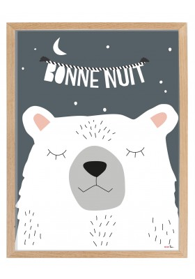 Frame and poster BONNE NUIT