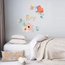 Fleurs de mur personnalisée-GRAND