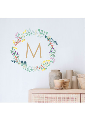 Spring flower wreath - personalized
