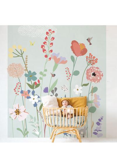 Panorama Wallpaper Fleurs des Champs