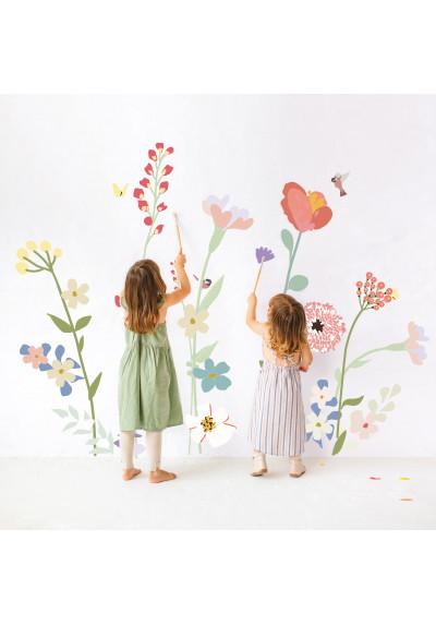 Fleurs des champs - Sticker géant