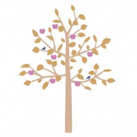 GIANT STICKER - BIG APPLE TREE MUSTARD